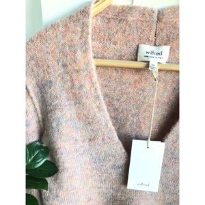Aritzia NWT Wilfred Yarn Sweater Pink Size XXS